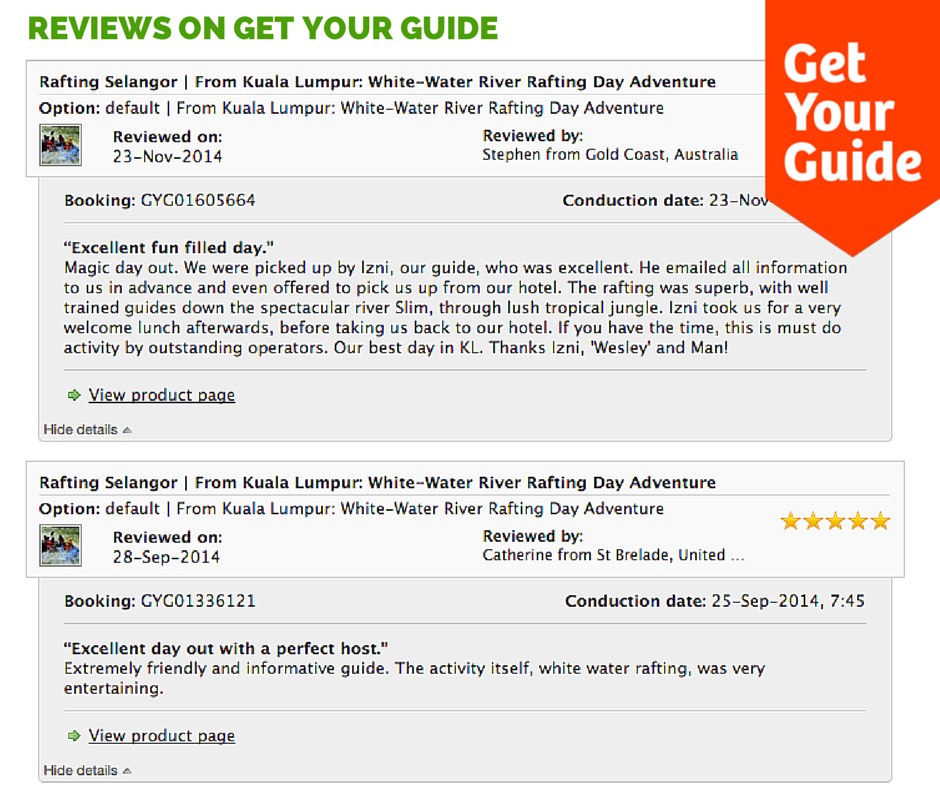 Get Your Guide Reviews