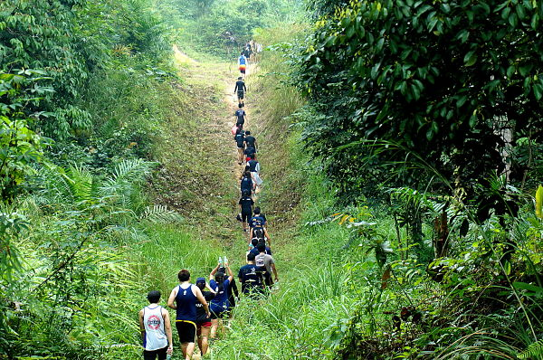 trekking to waterfall at ulu slim_opt
